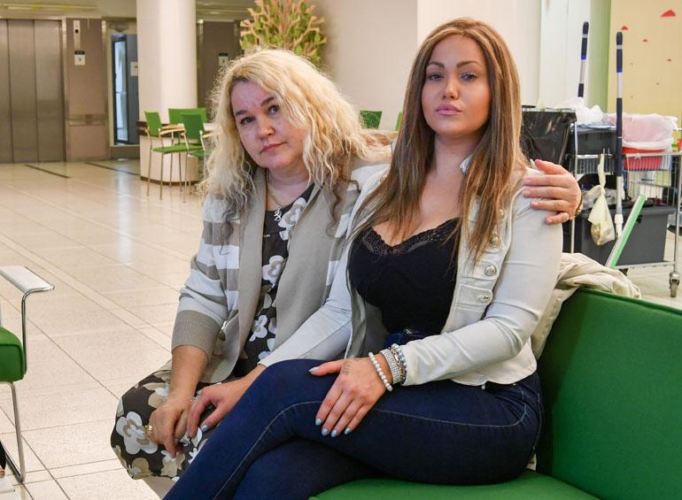 Janita Lukkarinen ja Jaana-äiti