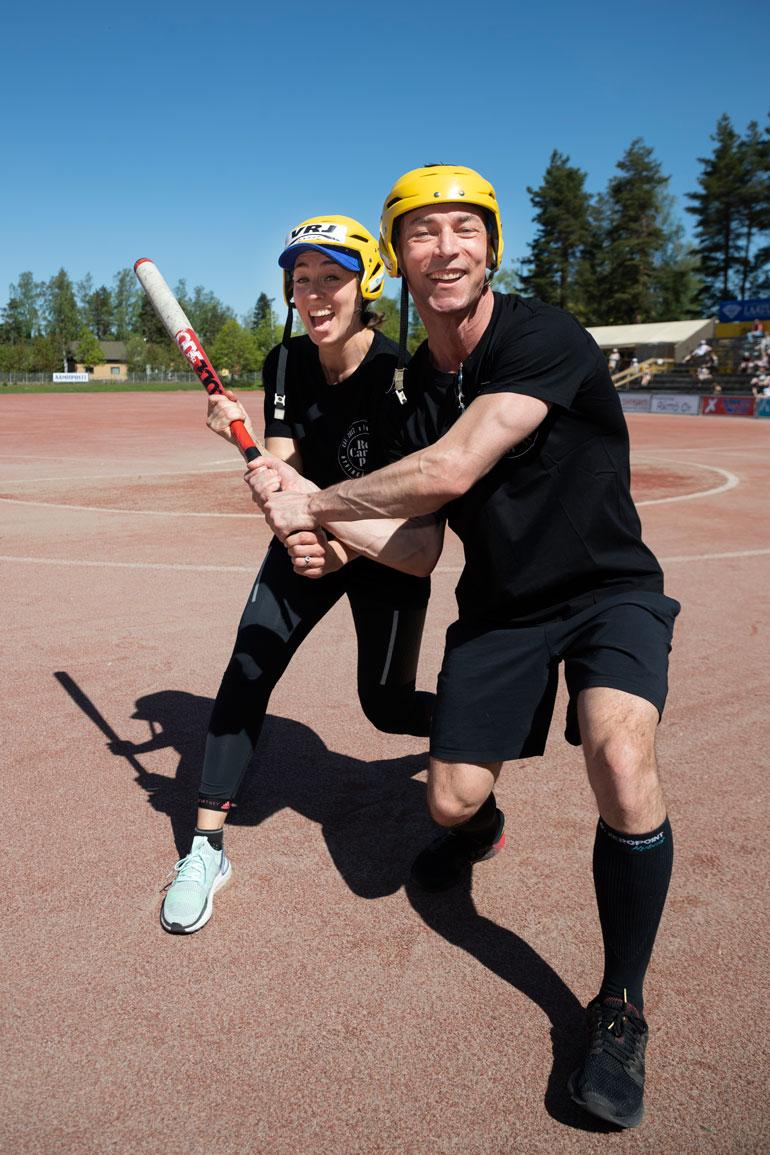 Sami osallistui radiojuontaja Anni Hautalan kanssa hyväntekeväisyysotteluun viime kesänä Hyvinkäällä.