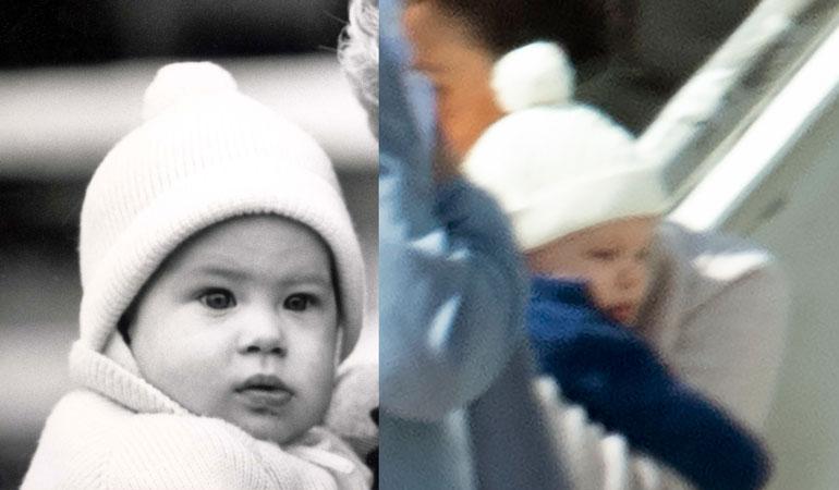 Archiel la oli matkahattuna Harry-isänsä vauva-aikainen pipo.
