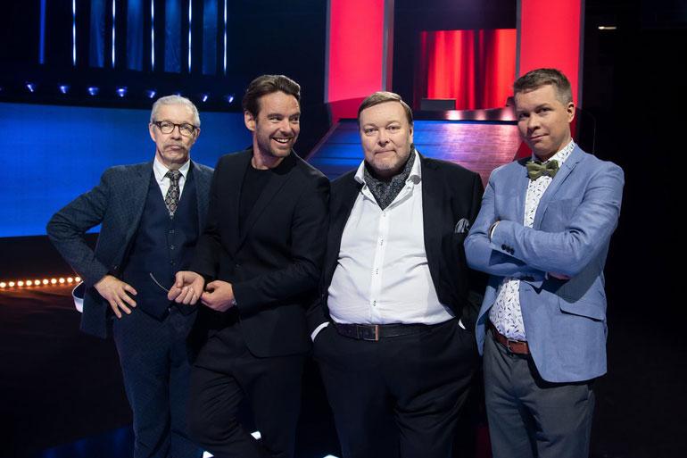 Mikko Leppilammen juontamassa Jahti-ohjelmassa kilpailijat haastavat yleistietogurut.