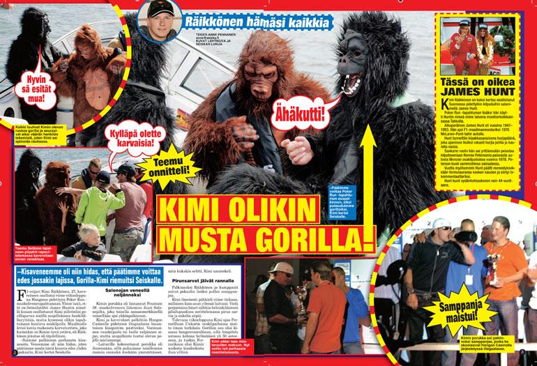 Kimi Räikkönen gorillana.