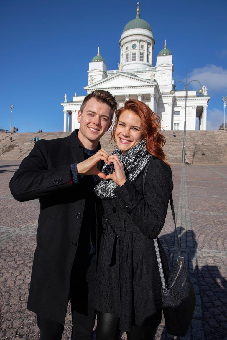 Courtney esitteli Helsinkiä Chad-kullalleen.