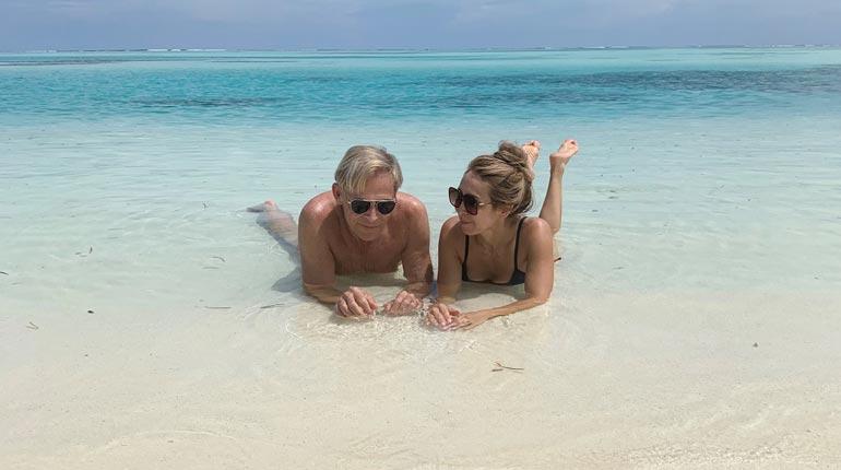 – Olen opettanut Nadjaa uimaan, Topi kertoo.