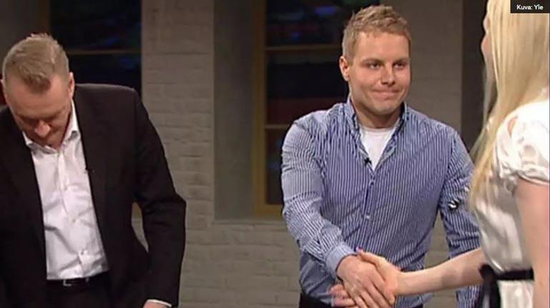 Valtteri ja Emilia tapasivat Arto Nybergin keskusteluohjelmassa 2010.