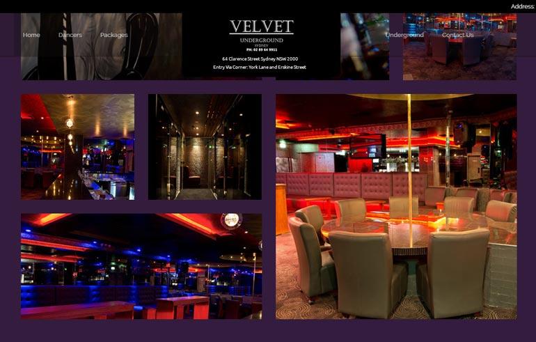 Velvet Underground -klubi kertoo sivustollaan olevansa kaupungin ystävällisin herrasmiesklubi privaattiesityksineen.