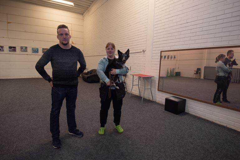 Jarmo ja Mia ovat ennenkin tehneet yhteistyötä. Jarmo on suunnitellut koiraesteitä ja esimerkiksi turvallisen peilin harjoitushalliin.