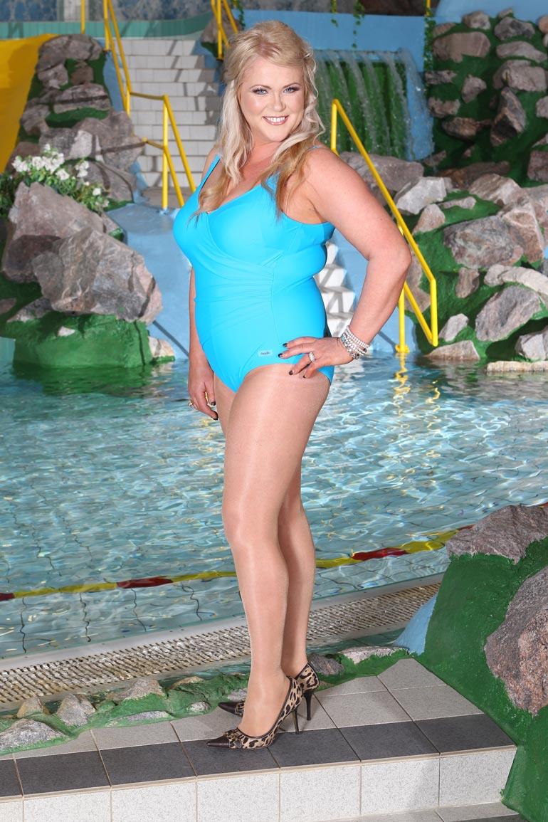 Tältä Johanna näytti vuoden 2011 Miss XL -kisassa. Muhkeus ja pyöreys ovat kadonneet.