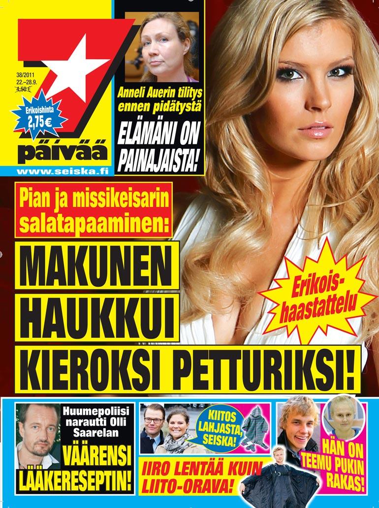 SEISKA 38/2011 Syyskuussa 2011 koko Suomi kohisi, kun Pia jätti misseyden ja sai Eino Makusenkin hermostumaan. Seiska paljasti kohun taustat.