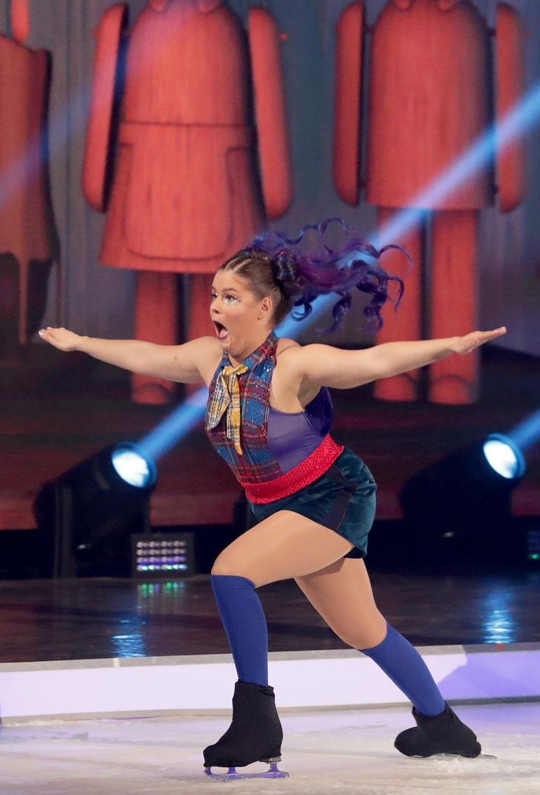 Puolen vuoden Dancing on Ice -urakka sai Saaran mukaan takapuolen pyöristymään timmimmäksi.
