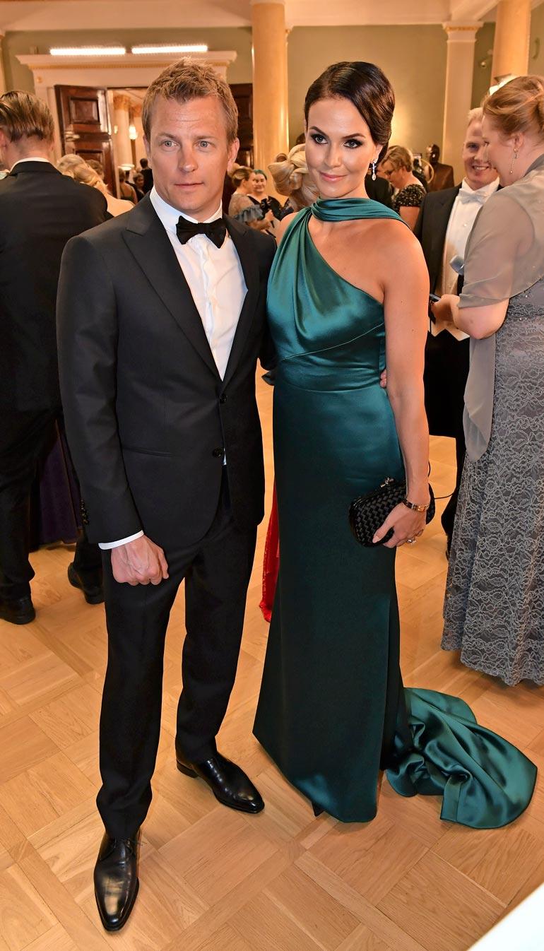 Minttu ja Kimi olivat illan komeimpia ja kuvatuimpia pareja Linnan juhlissa kaksi vuotta sitten.
