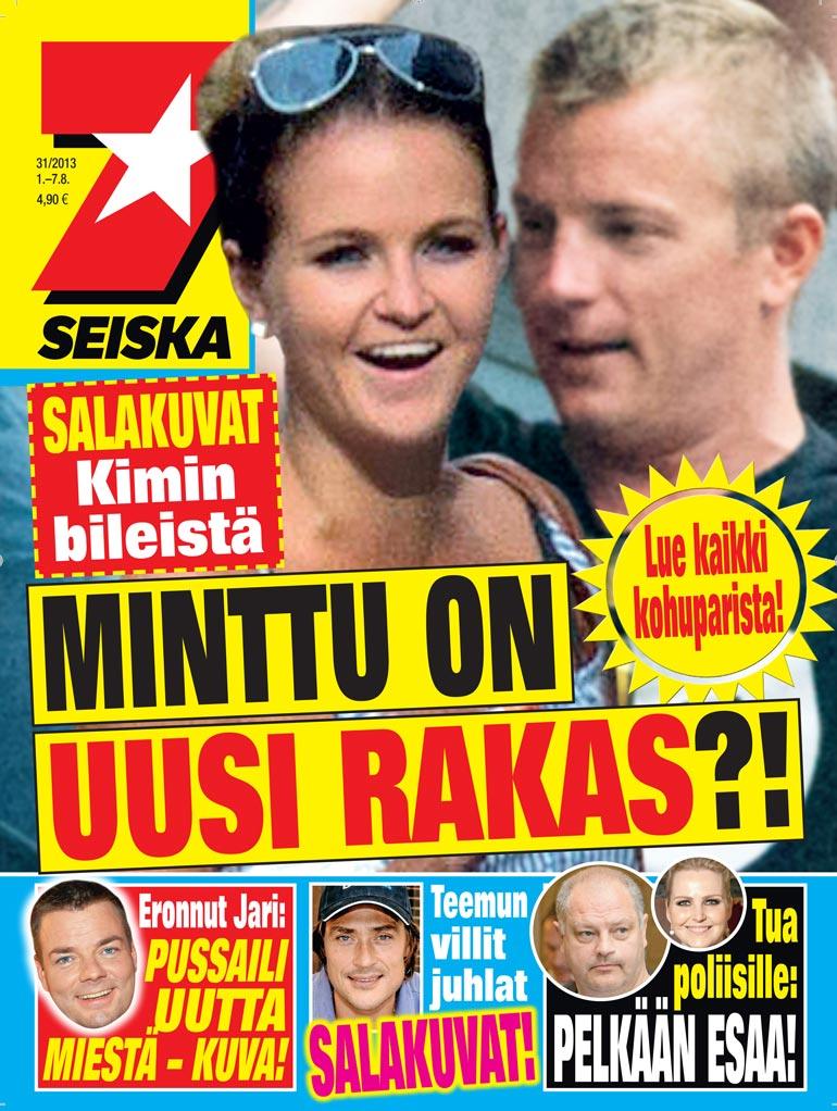SEISKA 31/2013 Kimin ja Mintun suhde paljastui Seiskan kannesta kesällä 2013.