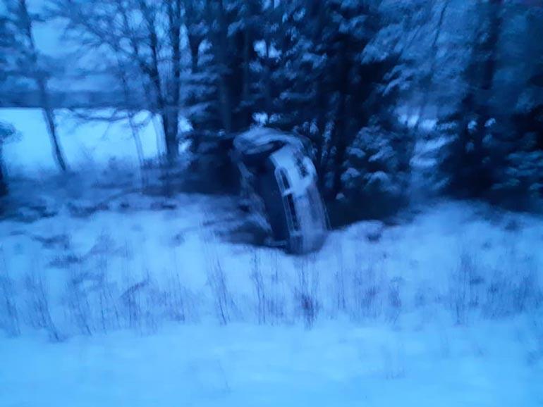 Timo Kangastie auto-onnettomuudessa.