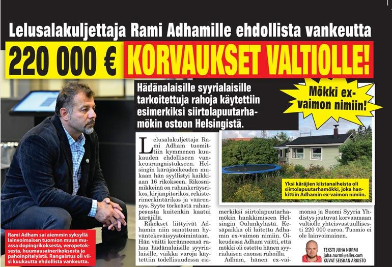 SEISKA 35/2018 Lelu-Rami sai vuonna 2018 ehdollisen vankeustuomion muun muassa rahankeräysrikoksesta.