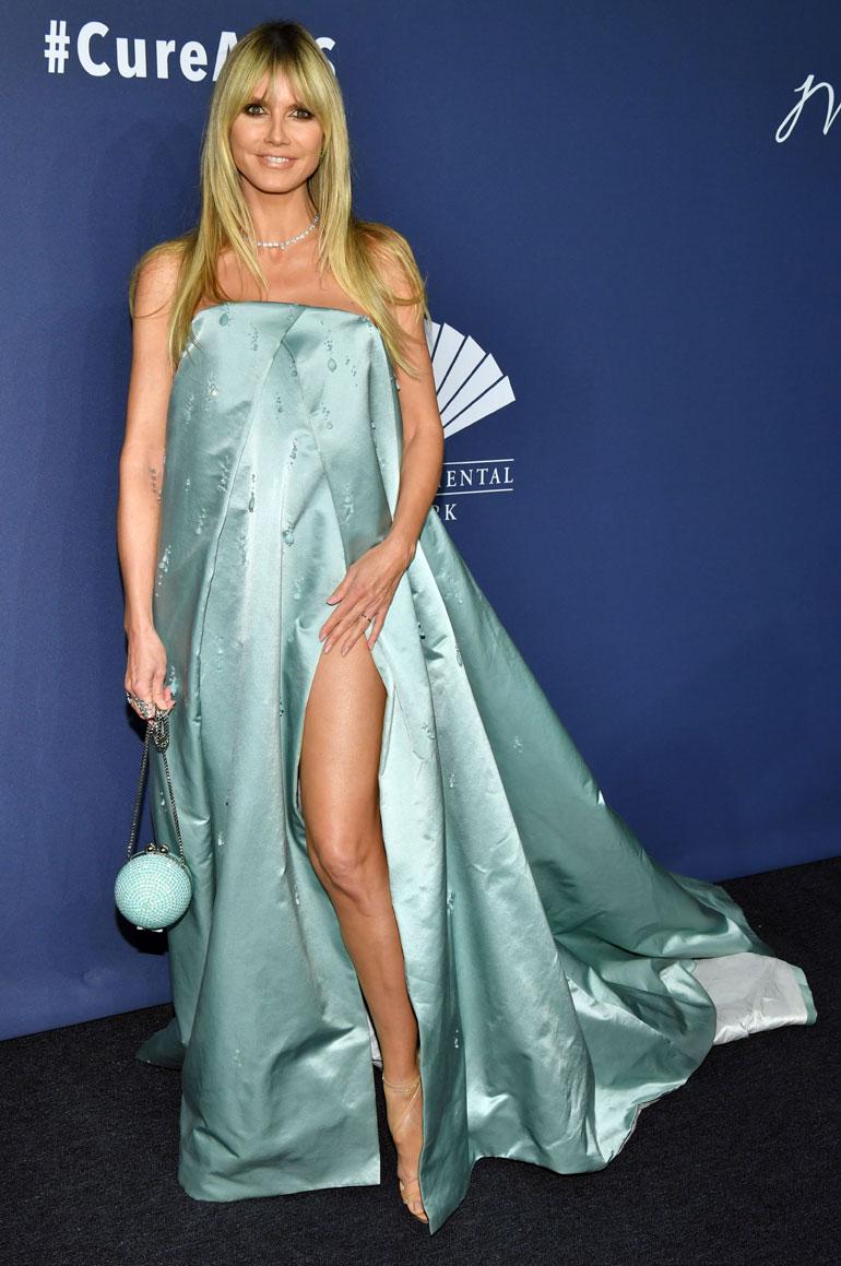 Heidi Klum vuoden 2020 amfAR-gaalassa.