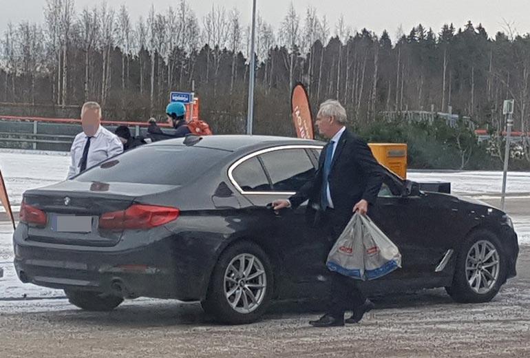 Antti Rinne Mäntsälässä.