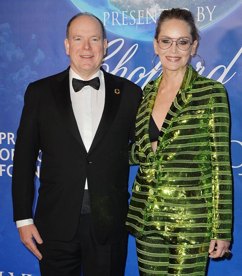 Albert ja Sharon Stone