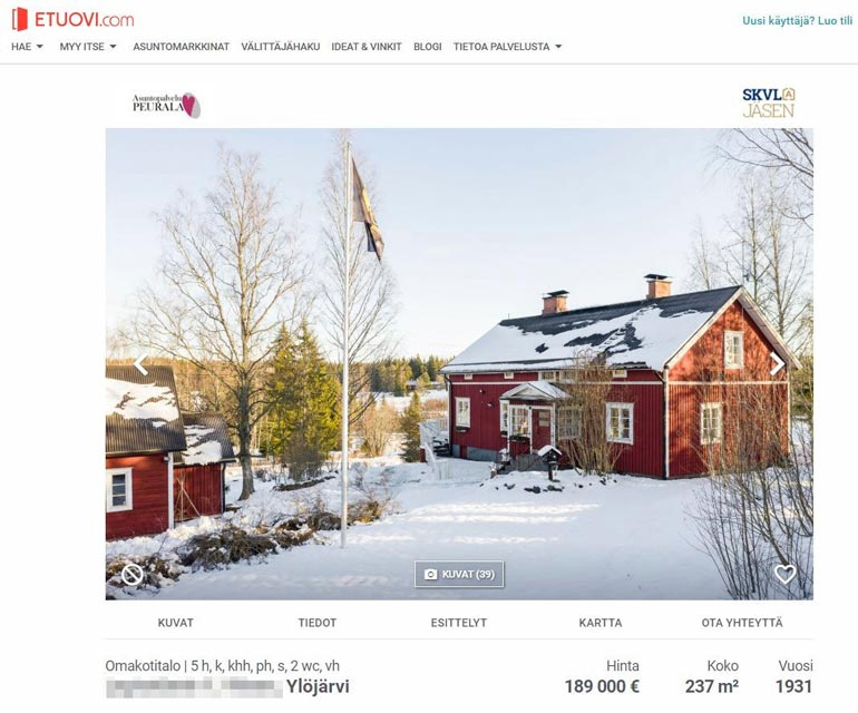 Carl Danhammer on asunut vaimonsa suvun talossa Ylöjärvellä parikymmentä vuotta. Tässä talossa majaili aikoinaan myös Matti Nykänen.