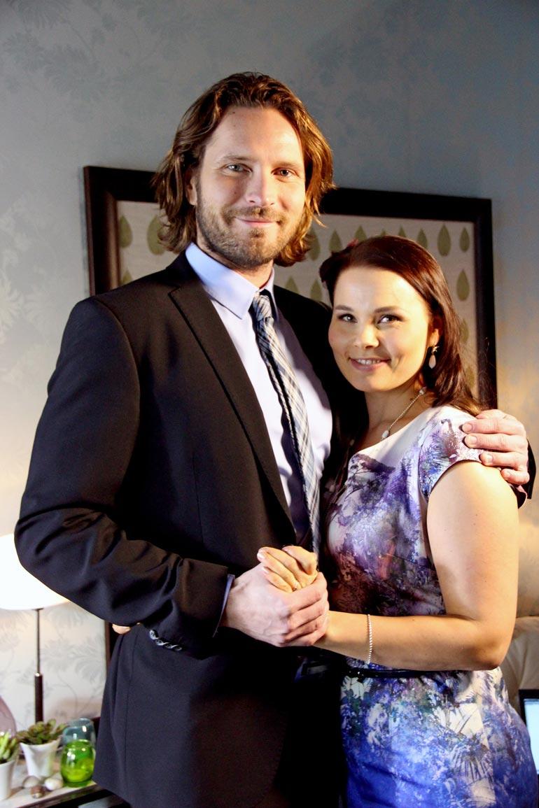 Kai ja Sanni näyttelivät yhdessä Uusi päivä -sarjassa.