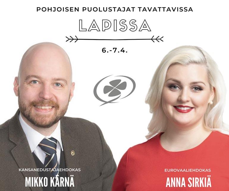 Mikko Kärnä ja Anna Sirkiä tekivät yhdessä keskustan riveissä työtä viime kevään vaaleissa.