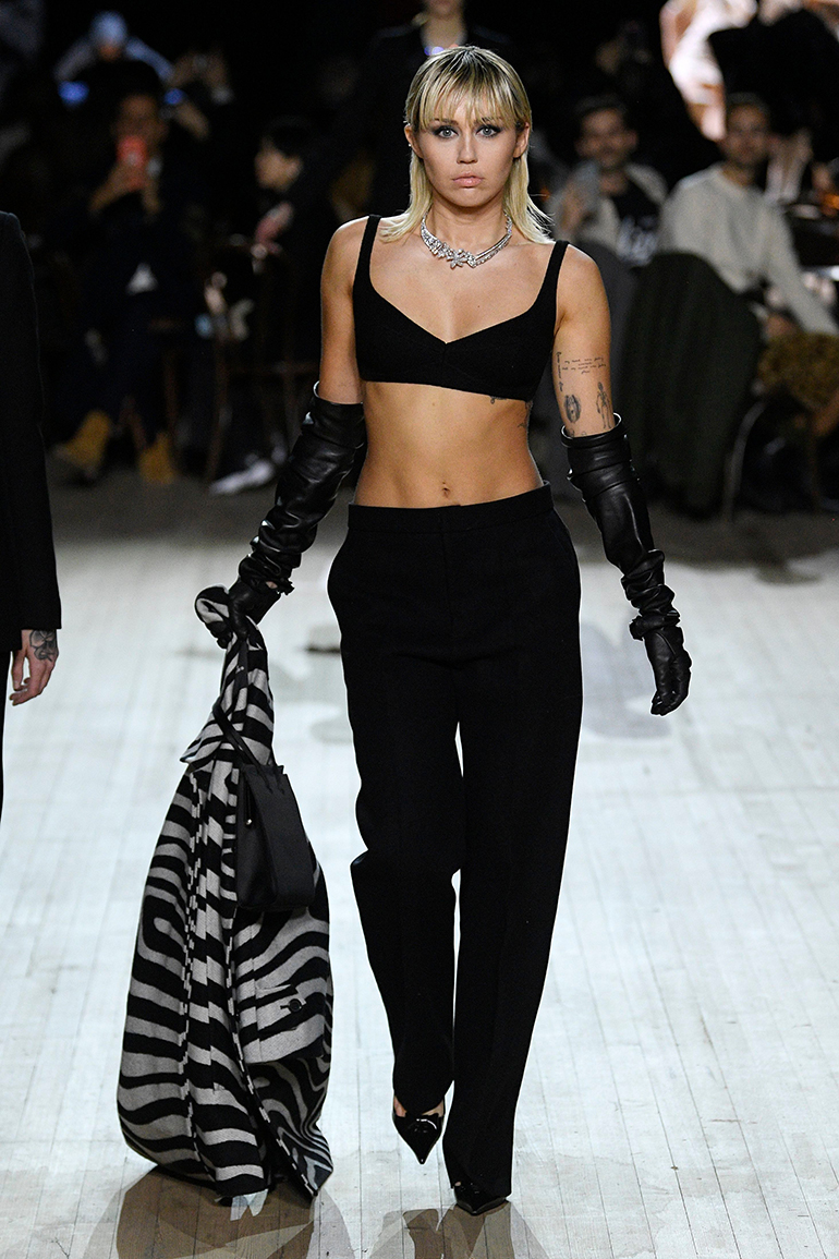 Miley Cyrus catwalk