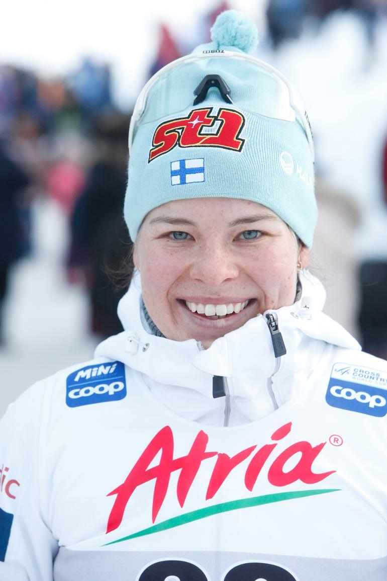 Kotimaiseksi naisjulkkikseksi Seiskan uudet tilaajat äänestivät hiihtäjä Krista Pärmäkosken.