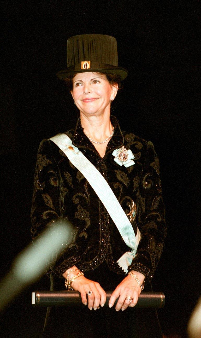 Silvia lakitettiin tohtoriksi Göteborgissa vuonna 1999.