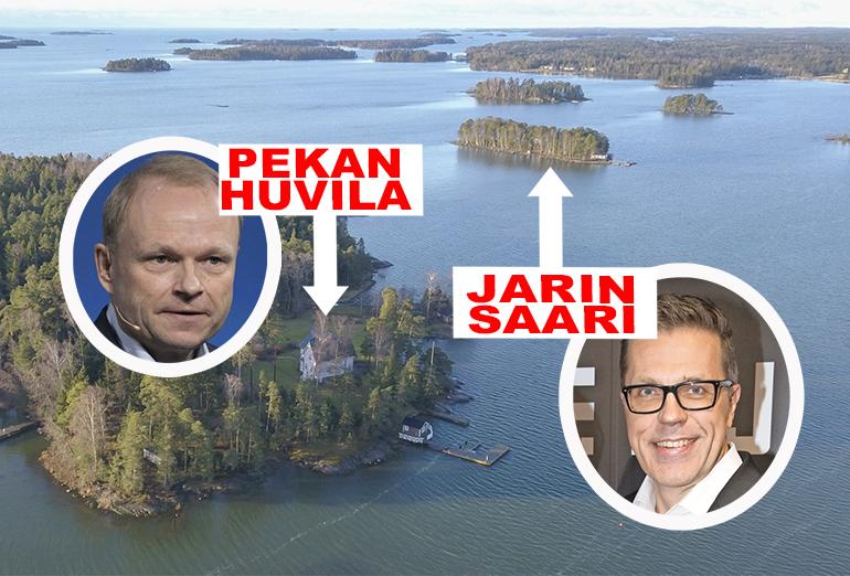 Pekan huvila on huutoetäisyyden päässä Jari Sarasvuon Pikku Pukkisaaresta.