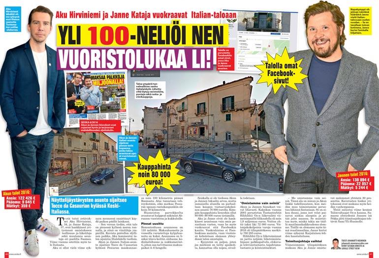 SEISKA 4/2018 Kaksi vuotta sitten Seiska etsi ja kuvasi Jannen Akun ostaman italialaisen talon, jota he vuokraavat vieraille.