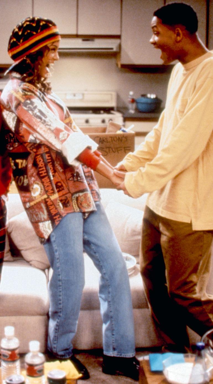 Tyra Banks ja Will Smith bel Airin prinsissä
