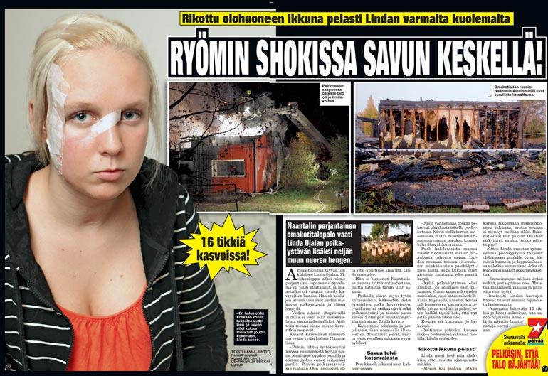 SEISKA 42/2009 Linda kertoi pelastumisestaan Seiskassa tuoreeltaan liekkikatastrofin jälkeen. Palo jätti jälkensä sieluun.
