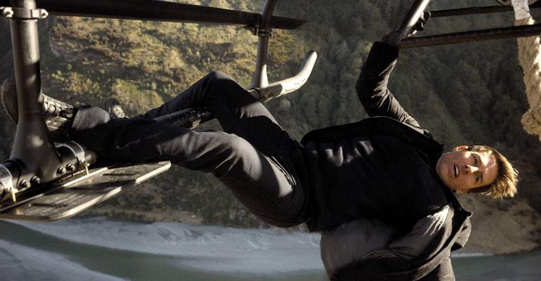 Tom Cruise roikkui helikopterissa Mission Impossible Fallout -elokuvassa.