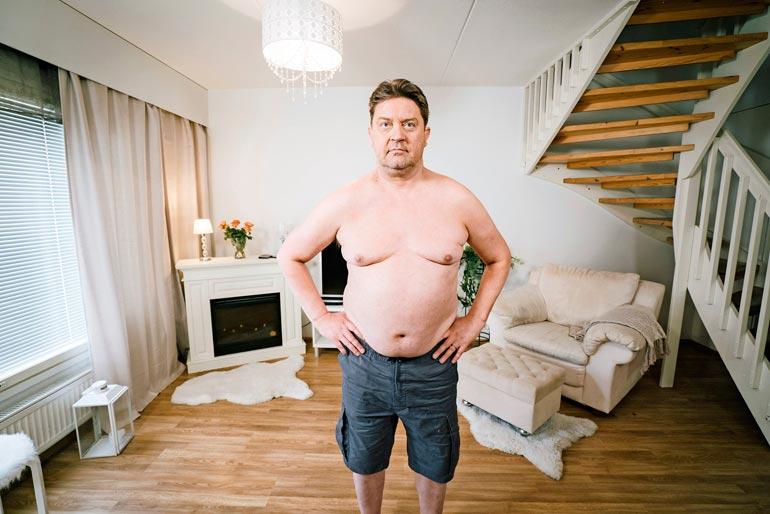 Oskari osallistui viime vuonna Olet mitä syöt -ohjelmaan. – Paino ei tippunut, mutta vyötärönmitta pieneni. Sisältä suli sitä vaarallista rasvaa.