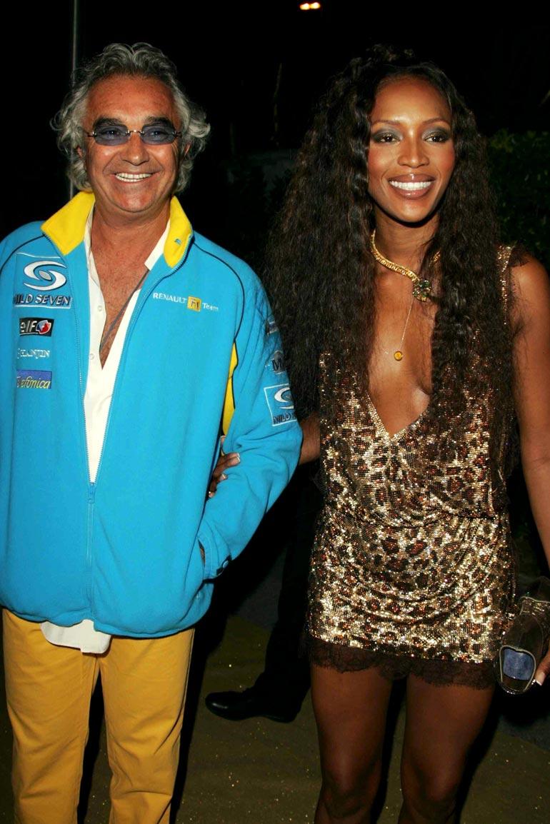 Naomi oli kihloissa Flavio Briatoren kanssa.