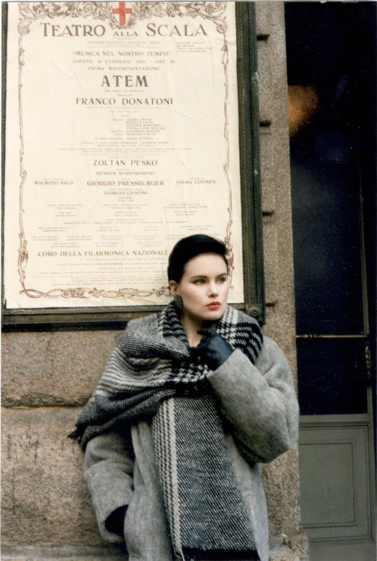 Helena Milanossa 1980-luvulla.