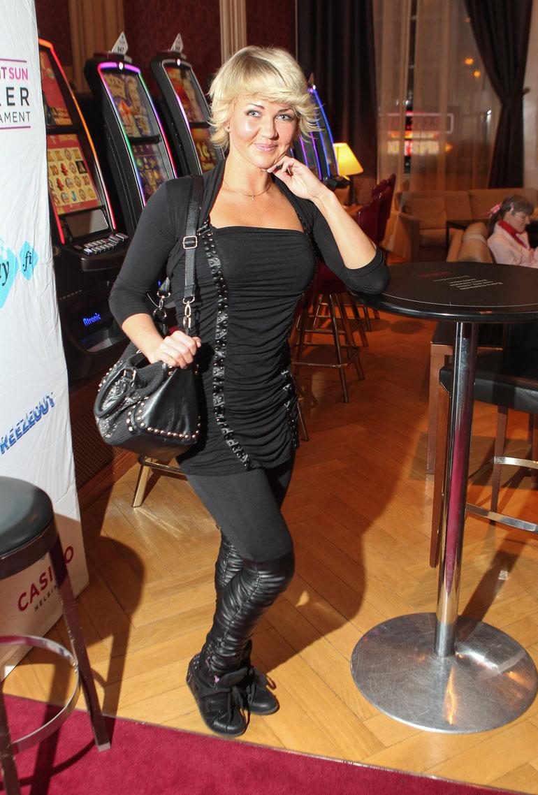 Janica Helsingin Grand Casinolla vuonna 2013.