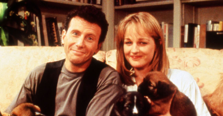 Paul Risner ja Helen hunt 1990.