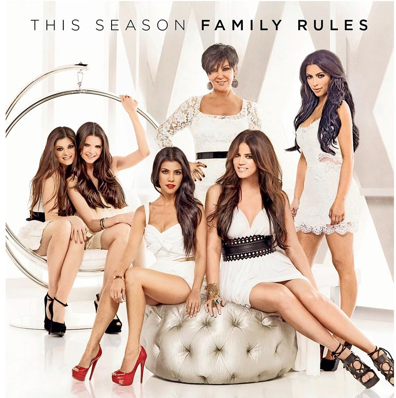  Kardashian-Jenner-klaanin menoa on seurattu jo vuosia Keeping Up With The Kardashians -sarjassa.