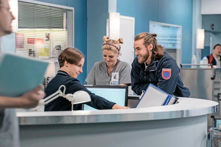 Syke-sarjan Leevi on sairaanhoitaja, jolla on herkänpuoleinen luonne. – Leevi ei ole kovin kylmähermoinen, Valtteri toteaa.
