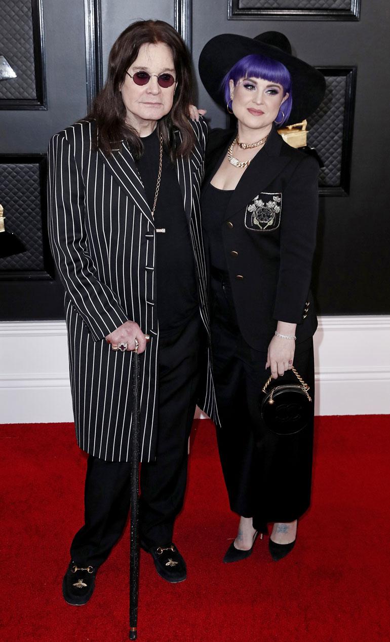 Ossy ja Kelly Osbourne vuoden 2020 Grammy-gaalassa tammikuussa.