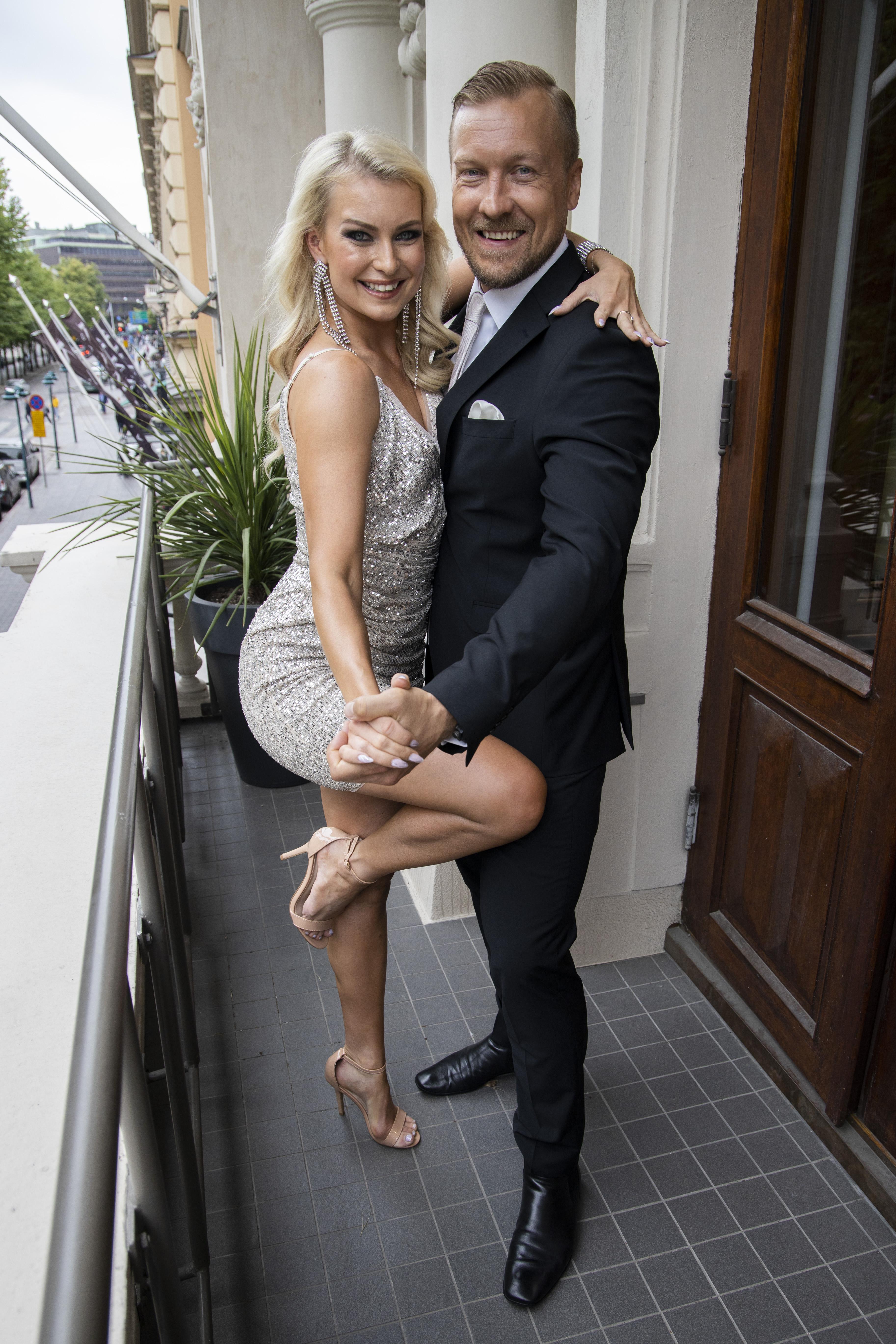 Kia Lehmuskoski ja Niklas Hagman ovat tanssiparina syyskuussa alkavassa TTK:ssa.