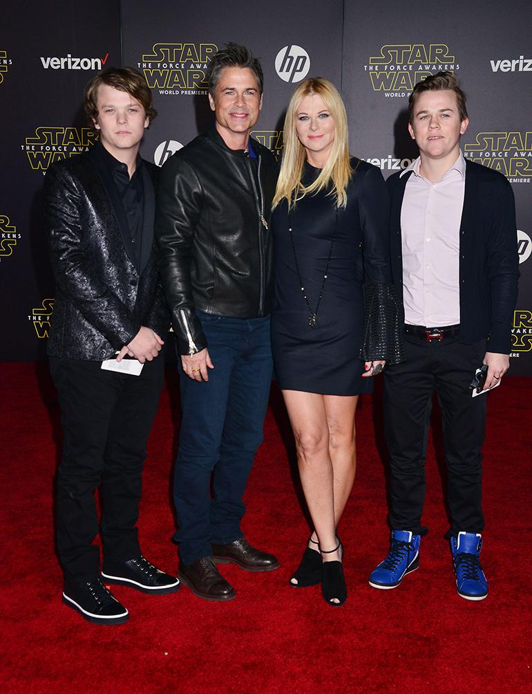 Rob Lowe perheineen vuonna 2015