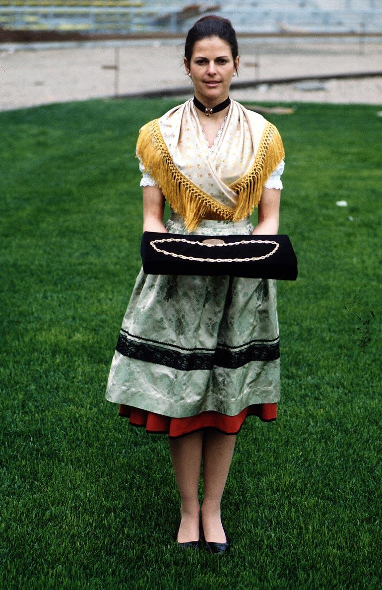 Silvia vuonna 1972.