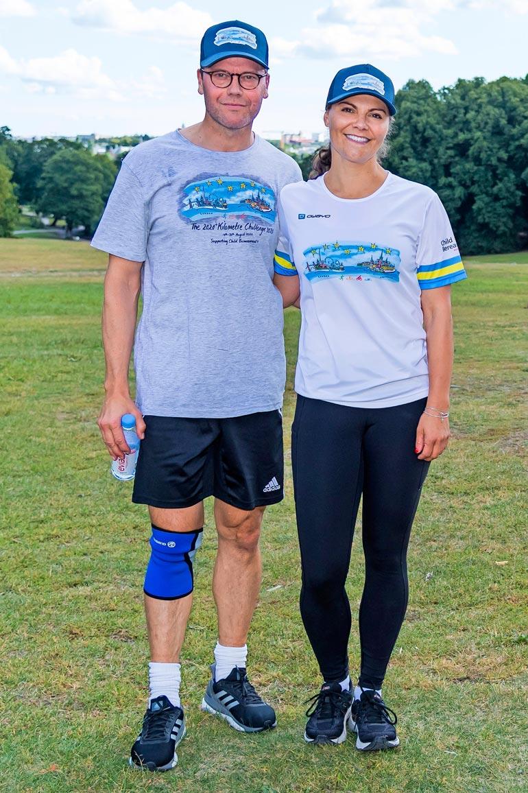 Vickan ja Daniel juoksivat hyväntekeväisyystapahtuman viisi viimeistä kilometriä.