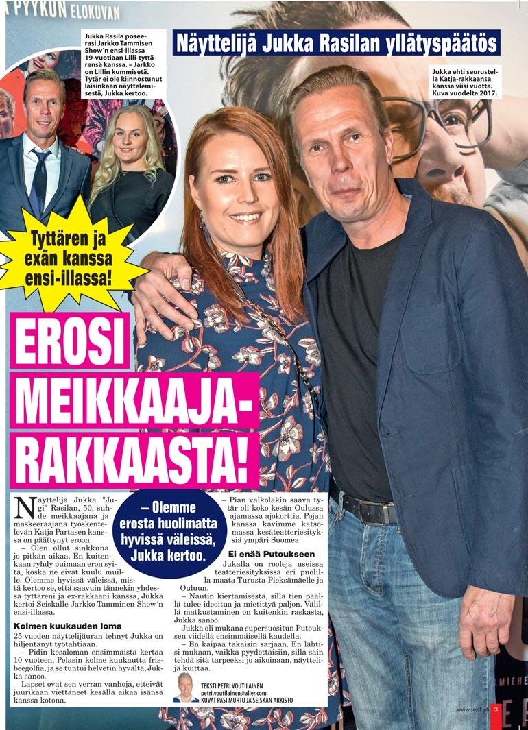 SEISKA 46/2019 Jukka kertoi Seiskalle viime syksynä olevansa jälleen sinkku. Hän seurusteli ex-rakkaansa kanssa viisi vuotta.