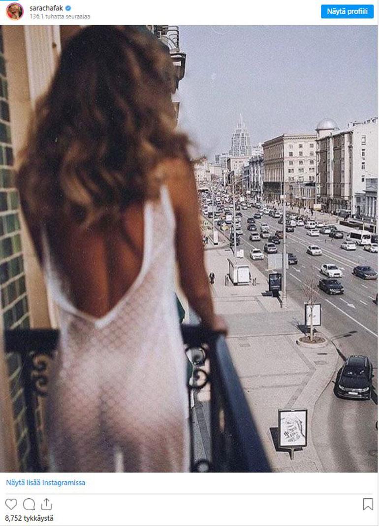 Sara Chafakin poistettu Instagram-kuva
