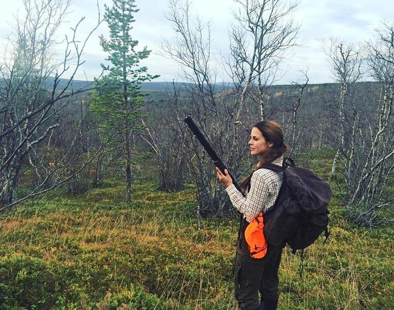Kaksi vuotta sitten Satu oli Pellossa metsästämässä. – Linnustaminen on suosikkilajini.