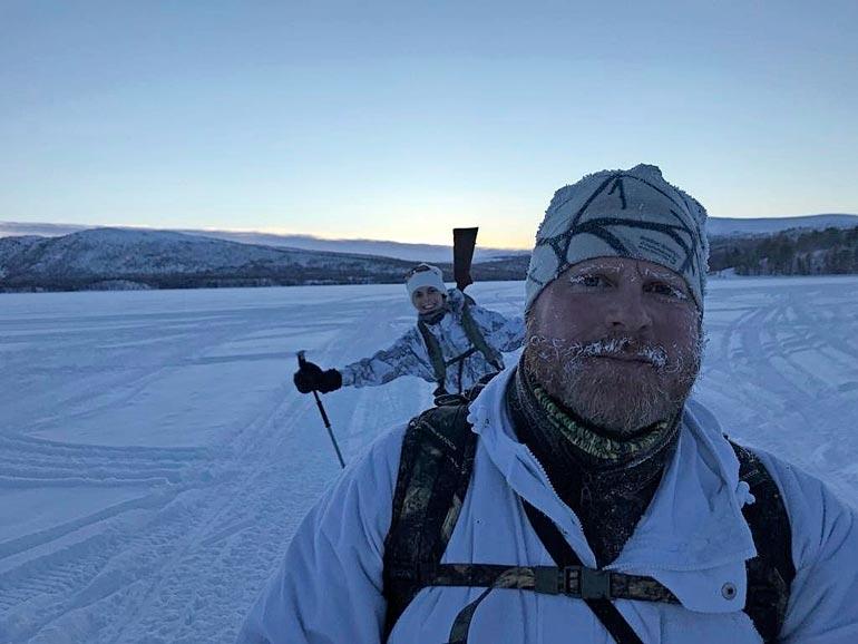 Metsästyskaverina Sadulla on nykyisin Mikko-veli. Kuva Norjasta kahden vuoden takaa.