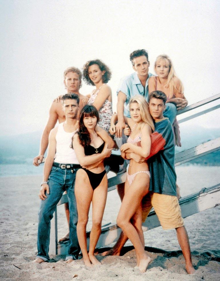 1990-luvun supersuosikin Beverly Hills 90210  -sarjan tähdet olivat usein otsikoissa riitojensa vuoksi.