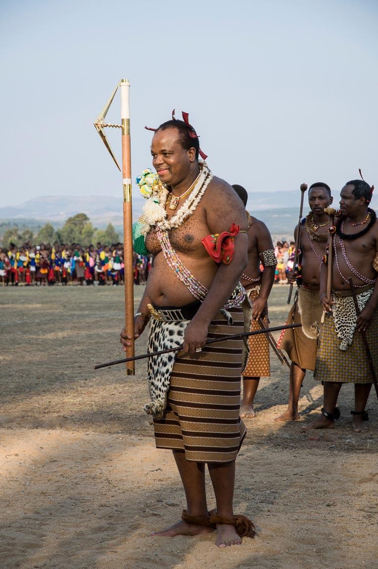 Eswatinin kuningaskunnan hallitsija Mswati III.