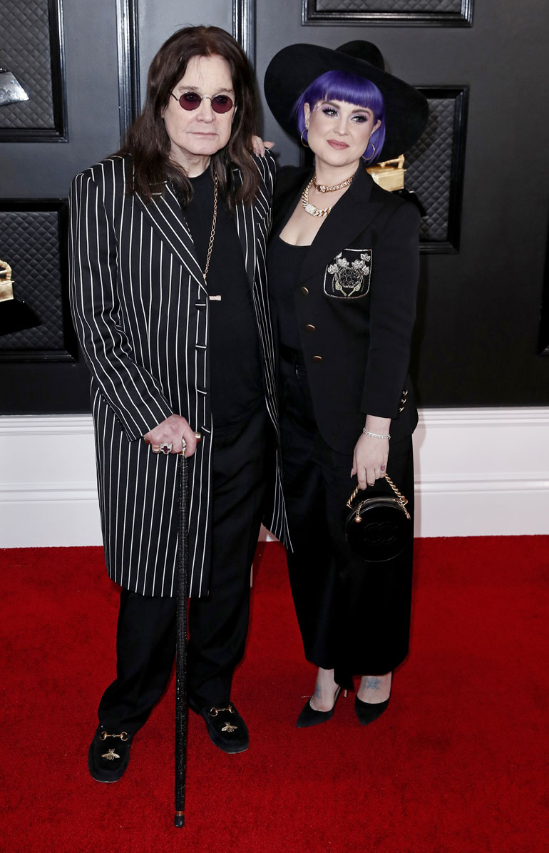 Ozzy Osbourne (L) and Kelly Osbourne arrive for the 62nd annual Grammy Awards ceremony at the Staples Center in Los Angeles, California, USA, 26 January 2020.